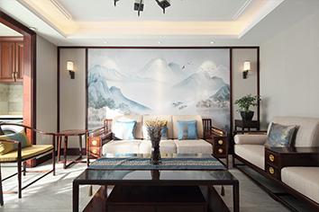新中式风格丨保利拉菲公馆-以山水为媒、将美...